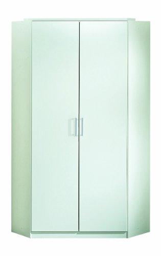 Wimex 147511 Eck-Kleiderschrank, 95 x 198 x 95 cm, 2-türig, Front und Korpus alpinweiß
