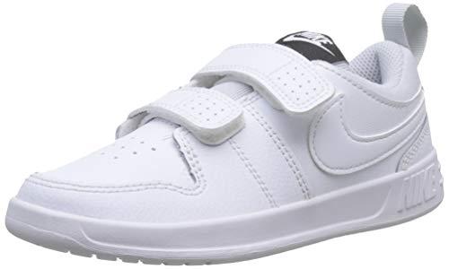Nike Pico 5 (PSV), Zapatillas de Tenis Unisex Niños, Blanco White/Pure Platinum 100, 34 EU