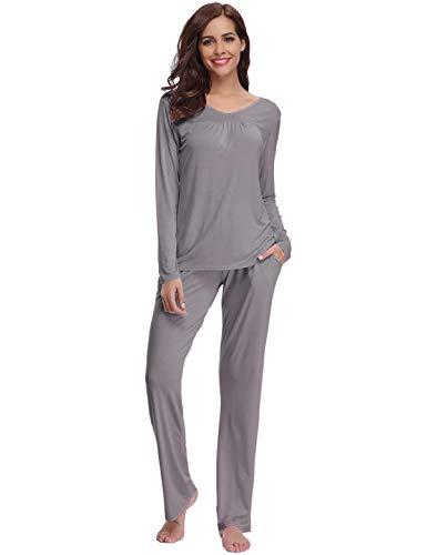 a, Soft Pyjama Set, Nachtwäsche Tops & Bottom Pjs Set Nachtwäsche Loungewear für Damen ()