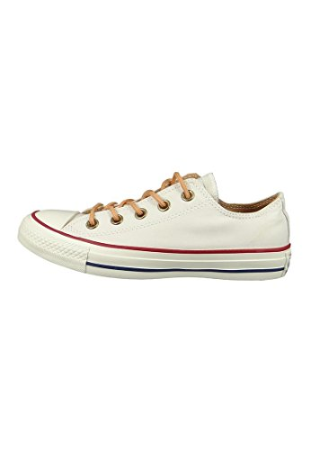 Converse All Star Ox Homme Baskets Mode Blanc Beige