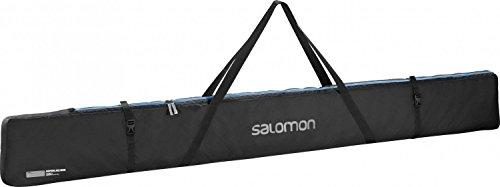 Salomon Langlauf-Skisack für 3 Paar Ski (bis 215 cm), Nordic 3 PAIRS 215 Ski Bag, schwarz (black/Process Blue), L38299900 -