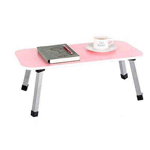 GHM Klapptisch Laptops Tisch MDF Faltbett auf Gebrauch Schlafsaal Lernen kleines Buch Schreibtisch Rechteck (Pink) - Kaffee-tisch-bücher Pink