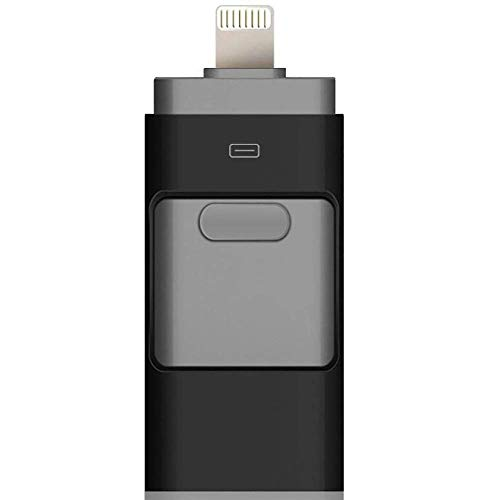 BWHTY USB-Flashlaufwerk Max. 128 GB 3-in-1-kompatibles iPhone, USB 3.0-Adapter Externer Speicher Memory Stick-Adapter Erweiterung Kompatibel mit Android/iPad/iPod/Mac/PC/iOS - Ipod 16gb Verwendet