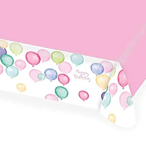amscan 9903733 Happy Birthday - Mantel, Color Pastel