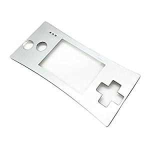 Zhhlaixing Silver Faceplate Cover Replacement Front Shell Housing Case fur Nintend Game Boy Micro GBM 3693#