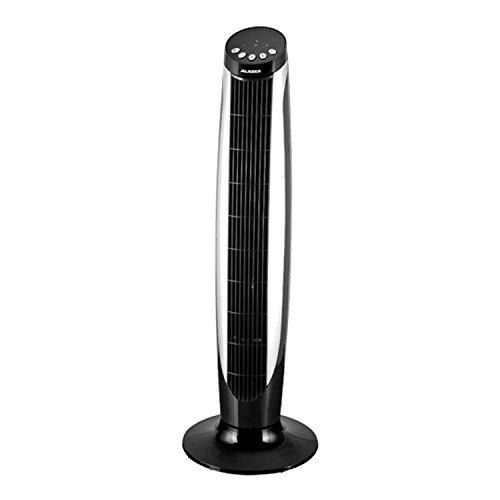 ALASKA Turmventilator TF 915 | Ventilator | 45 Watt | 90 cm | 3 Geschwindigkeitsstufen | LED Display | 60 Grad Oszillatoren zuschaltbar | Zeitschaltuhr | Fernbedienung