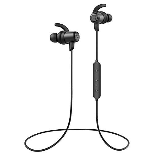 Auricolari bluetooth, soundpeats cuffie wireless leggere sport ipx6, stereo antirumore a cvc6.0 con microfono, design magnetico, 8 ore durata, compatibili iphone/android/tab per jogging, fitness-nero