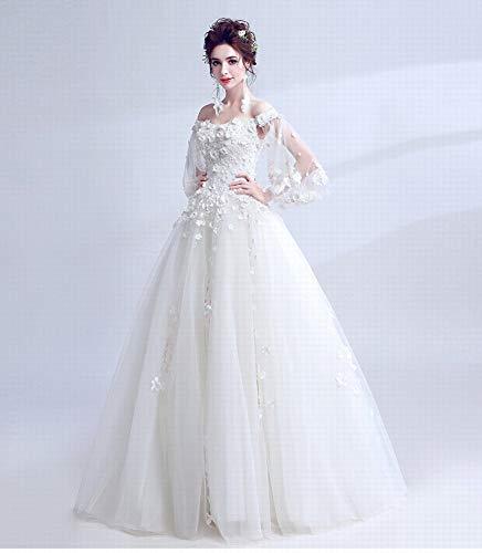 YT-RE Prinzessin Hochzeitskleid Mode Organza Hochzeit Blume Trompete Ärmel Trägerlosen Brautkleid...