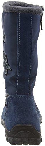 Ricosta Emilia, Bottes de neige de hauteur moyenne, doublure chaude fille Bleu - Blau (pavone 145)