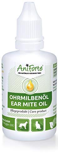AniForte Ohrmilbenöl 50 ml bei Ohrmilben- Naturprodukt für Hunde, Katzen und andere Haustiere