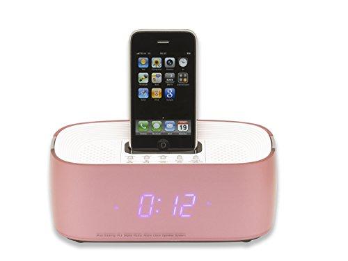 Denver iPod-Dockingstation Radiowecker IFM15 iPhone AUX altrosa
