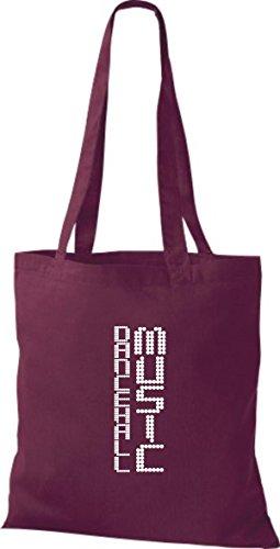 ShirtInStyle Stoffbeutel Musik Beutel Dancehall Music Baumwolltasche Beutel, diverse Farbe burgundy