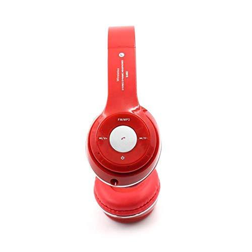 Écouteurs S460 Pliable sans Fil Bluetooth 4 0 Casque Sport Stereo Écouteur FM Radio Casque De Jeu avec Micro pour Pc Mobile Téléphone Mp3 Rouge