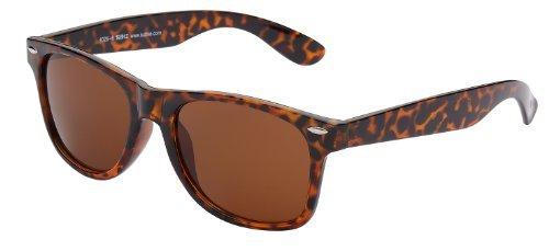 Sonnenbrille Nerdbrille retro Art. 4026-6 Rahmen: braun leopard, Gläser: braun