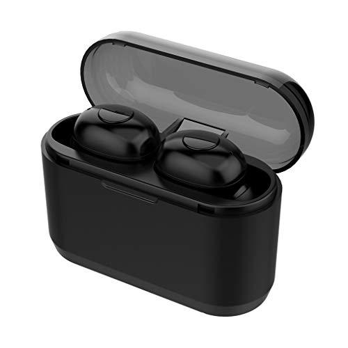 Inalámbrico Bluetooth 5.0 Heaset - Mini Auricular estéreo Impermeable con cancelación de Ruido en la Oreja con micrófono Deportes en el Exterior