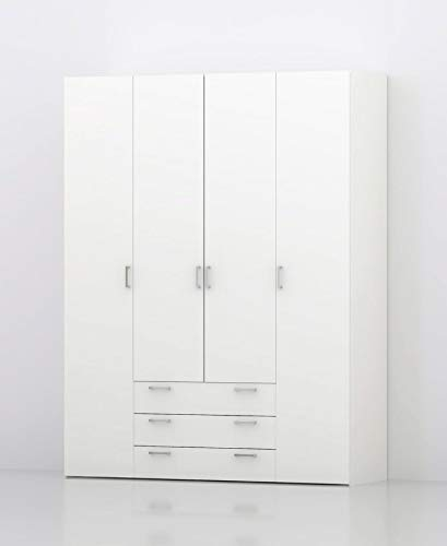 Esidra, Armadio 4 Ante e 3 cassetti, 154x50x200cm | CasaMe