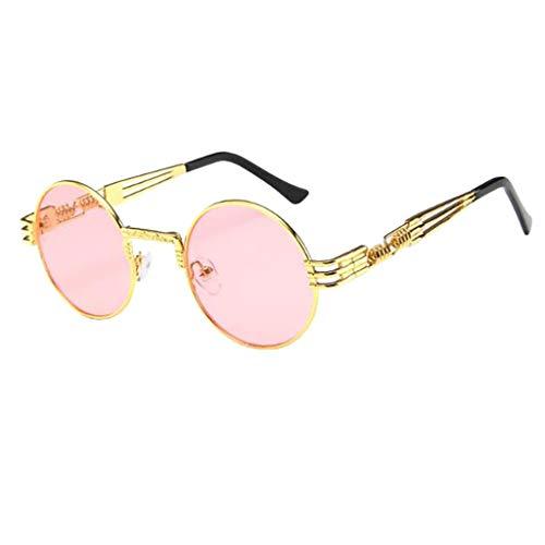 QUINTRA Sonnenbrille Unisex Runde Sonnenbrille mit großem Gestell Eyewear Klassische Retro-Brille