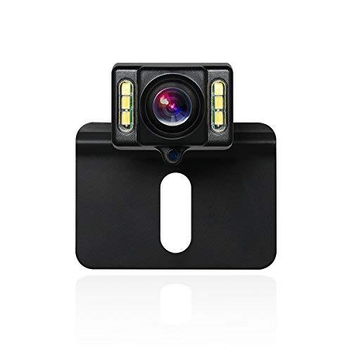 BOSCAM B1 wasserdichte Rückfahrkamera mit 6 LEDs für Nachtsicht, HD Backup Camera mit 170°Weitwinkel und Hilfslinien, Reverse Camera mit 3M Kleber passt zu universal EU-Nummernschild