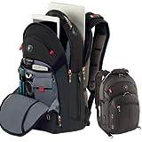 Wenger 600627 GIGABYTE 15.4' MacBook Pro Rucksack, Anti-Scratch Futter mit iPad/Tablet / eReader Tasche in schwarz {17 Liter}