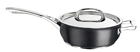 Circulon Infinite Hard Anodised 26 cm Chef's Pan with Steel Lid - Black
