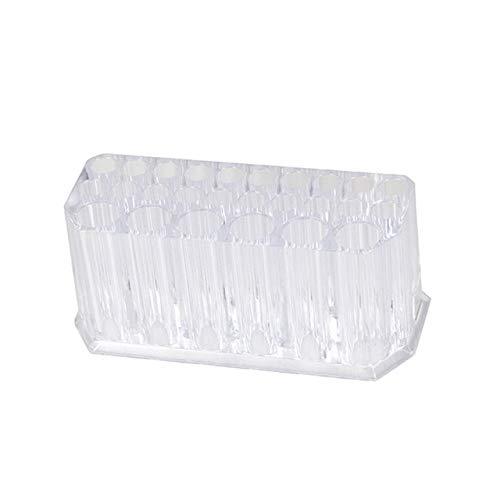 CWDOG Acrilico Trasparente 26 Griglie Porta Rossetto Organizzatore per Trucco Eyeliner Supporto per portamatite Scatola di immagazzinaggio cosmetica Pennelli per Trucco Scaffale, Trasparente