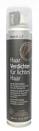 Hairfor2 Haarverdichtungsspray mittelbraun, 1er Pack (1 x 300 g)
