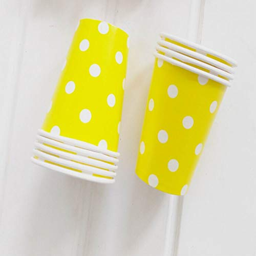 (Qmcmc 12Pcs Papier Cups (9.5oz) Polka Dot Farben Geburtstag Party Catering Geschirr)