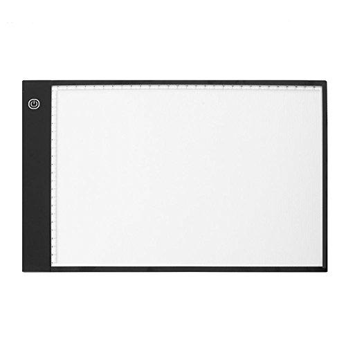 AFfeco A4 LED Digital Zeichentafel Graphic Display Luminous Panel Artists Skizzieren Tablet, acryl, Stepless Adjust Brightness,led, Einheitsgröße (Skizzieren Panel)