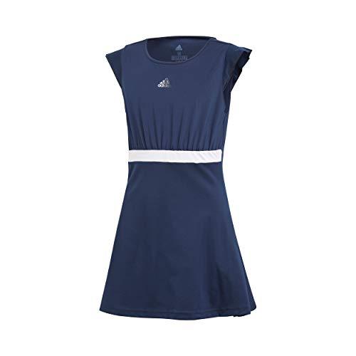 adidas Mädchen Ribbon Kleid, Collegiate Navy, 128