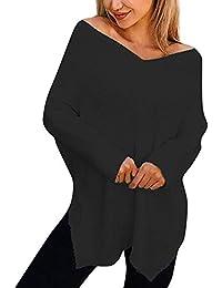 BaZhaHei de Suéter, Vestido de Jersey de Cuello Alto con Cuello Alto para Mujer del Jersey elástico de Mujer de Vestido de suéter de Manga Larga de Cuello Alto para Mujer Suelto y cómodo camsietas