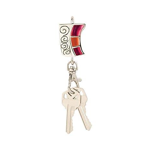Trouveurs Clé Sac à main Verreartistiquerose Porte-clés