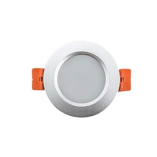 9 watt Energiesparende Deckeneinbau Downlight Ultra Slim LED Panel Deckeneinbau Flache Scheinwerfer for Badezimmer Flur Hotel Büro Bibliothek (Color : 3000k) (Quecksilber-glas-badezimmer-set)