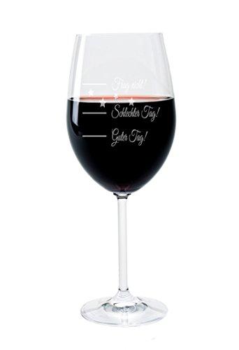 Leonardo Weinglas mit Gravur Motiv Good Day Wein-Glas graviert Guter Tag Schlechter Tag Frag Nicht