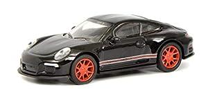 Schuco 452637400 - Maqueta de Porsche 911 R (Escala 1:87), Color Negro y Rojo