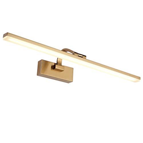 FOTEE Spiegellampe Badezimmer, 6000K Spiegelschrank-Leuchte Wasserdicht Aufbauleuchte + Klemmleuchte für Möbel, Spiegel und Bad,Gold_20inch (20 Zoll Bad-spiegel)