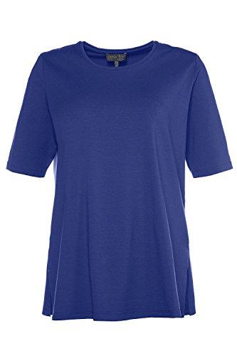 Ulla Popken Große Größen Damen Langarmshirt Shirt Relaxed dunkelblau-lila