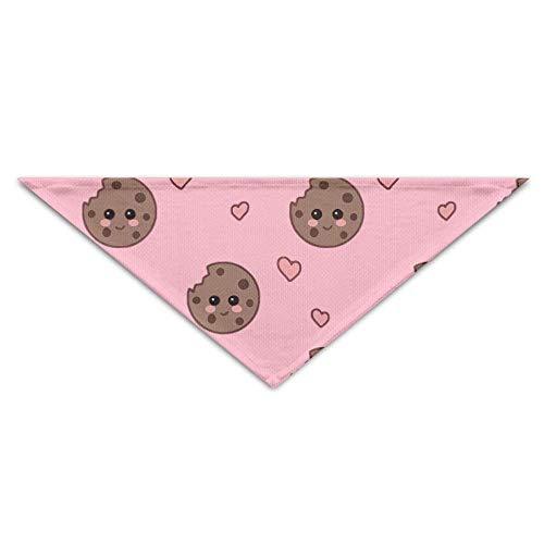 Hectwya Pet Bandanas Cute Lovely Cookies PrintingDog Geburtstag Pet Bandana Halsbänder für Hunde und Katzen -