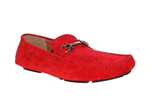 DaZaWa ,  Mocassini Uomo, rosso (rosso), 44 EU