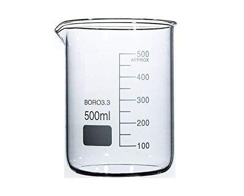 Rocwing - Boro 3.3 Glas Messbecher für Labor (500ml)