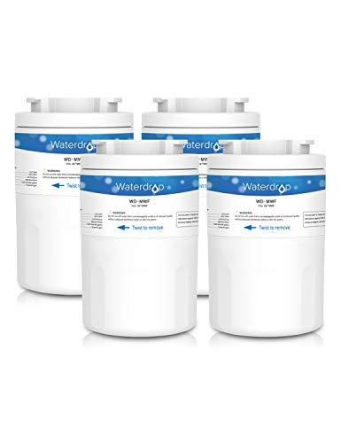 Waterdrop MWF Kühlschrank Wasserfilter Ersatz für General Electric GE SmartWater MWF, MWFA, MWFP, GWF, GWFA, GWF01; Hotpoint HWF, HWFA, MWF, MWFA; Sears/Kenmore 9991, 46-9991, 469991, 9996, 9905 (4) (Ge Kühlschrank Wasserfilter Mwf)