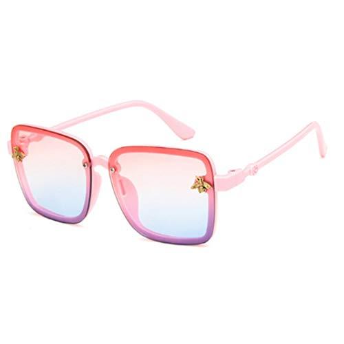 Sonnenbrille Übergroße Square Kinder Sonnenbrille Celebrity Sonnenbrille Jungen Designer Female Uv400 Rosa