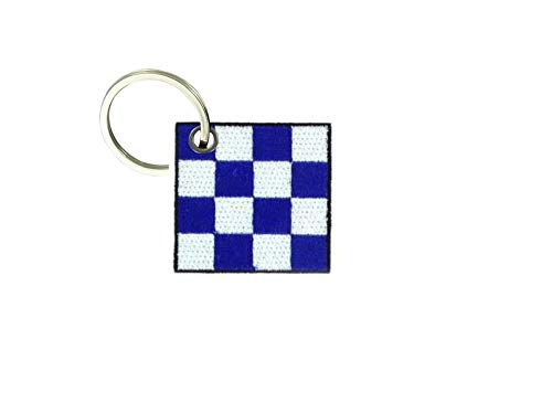 Akachafactory portachiavi ricamato patch toppa bandiera internazionale nautico n november