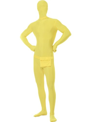 Costume Tutina Seconda Pelle Giallo Morphsuit - XL, Giallo