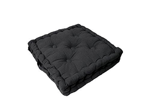 Cuscino materasso per sedia in cotone PANAMA antracite