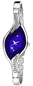 Swadesi Stuff Bangle Blue DIAL Elegance New Arrival Luxury Fashion Ethnic Blue Bracelet Look Watch - for Women & Girls