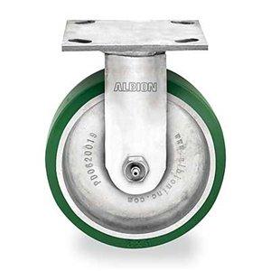 Rigid Plate Caster, 1250 lb, 8 In Dia