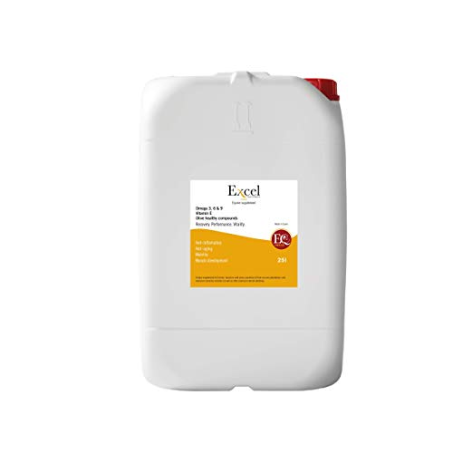 Excel Supplements Europe ExcelProElite 25 liters | Horse Oil | anti-inflammatory antioxidants | Anti-inflammatory Natural | Muscular Development (25)