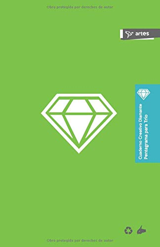 Cuaderno Creativo Diamante Pentagrama para Trío por Cuaderno Creativo Diamante