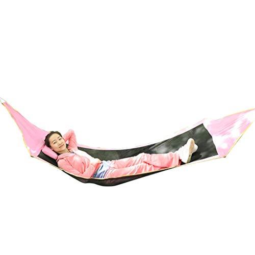 Wghz Hängematte Atmungsaktiv Ultraleicht Reisecamping   150 KG Gewicht, 280 cm * 91 cm Outdoor Single Doppel Anti-roll Outdoor Indoor Schlafen Camping Tragbare Schaukel Stuhl Faule UOMUN (Farbe: (Einfache Roll-schlafsack)
