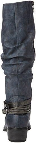 Marco Tozzi 25531, Bottes Longues Femme Bleu (NAVY ANTIC COM 820)